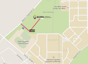 Bejárat az Agórába térkép